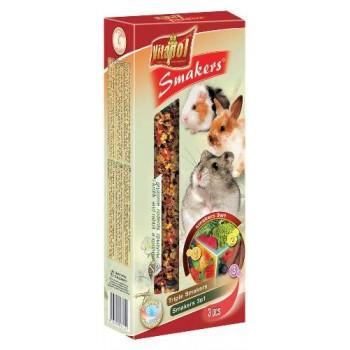 Vitapol / Витапол Smakers 3 в для грызунов (овощи/плоды рожкового дерева/фрукты )