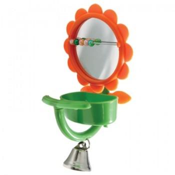 "Triol / Триол Игрушка для птиц - зеркало ""Кормушка"", 75*150мм"