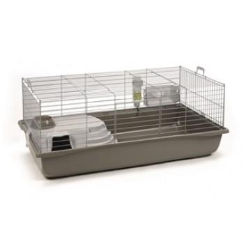 Beeztees / Бизтис 266883 Deluxe Клетка д/кролика серебристо-серая 80*50*44см