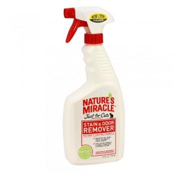 8in1 уничтожитель пятен и запахов от кошек NM JFC S&O Remover универсальный спрей 710 мл