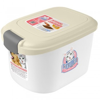Catidea Контейнер для сухого корма на 3 кг, кремовый