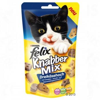 Felix / Феликс Party Mix лакомство для кошек Сырный Микс Чеддер, Гауда, Эдам 60 гр