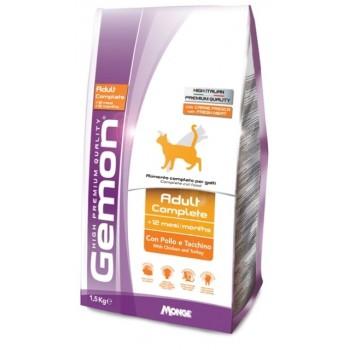 Gemon / Гемон Cat корм для кошек с курицей и индейкой 1,5 кг