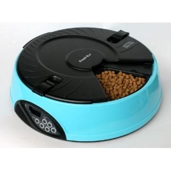 Feedex / Фидекс Автокормушка на 6 кормлений для сухого корма и консерв Голубая