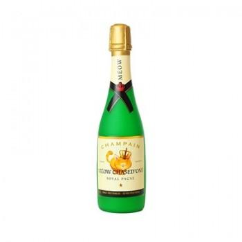 "Silly Squeakers Виниловая игрушка-пищалка для собак Бутылка шампанского ""Мяот и Пушон"" (Wine Bottle Meow Chased) SS-WB-MC"