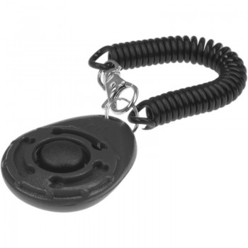 ZooOne Кликер на браслете с карабином (чёрный)