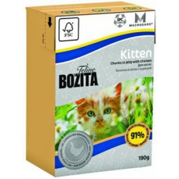Bozita / Бозита Tetra Pak Funktion Kitten кусочки Курицы в желе д/котят и беременных кошек 190гр