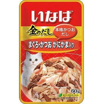 Inaba Киннодаси пауч для кошек в желе Микс тунцов+сурими, 60 гр