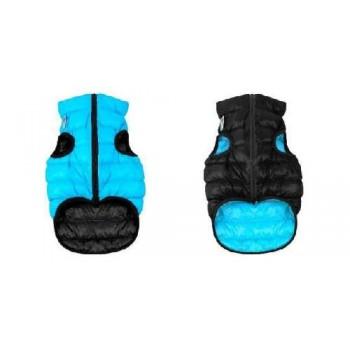 AiryVest / ЭйриВест курточка двухсторонняя, размер XS 22, черно-голубая