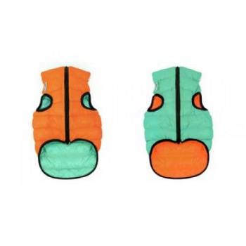 AiryVest / ЭйриВест курточка двухсторонняя Lumi, размер S 30, оранжево-салатовая