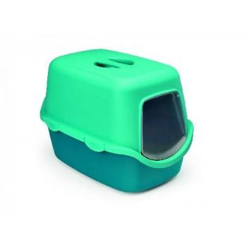 Stefanplast / Стефанпласт Туалет закрытый Cathy Trendy Colour, бирюзово-голубой, 56*40*40 см
