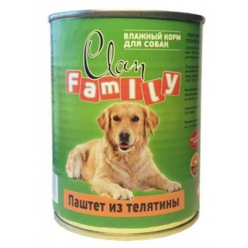 Clan / Клан Family консервы д/собак паштет из телятины, 0,415 кг