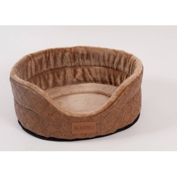 Katsu / Катсу SKAJ 70х62х25 см лежак для животных коричневый плюш