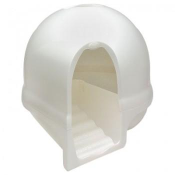 Booda dome Туалет-купол с лесенкой чистые лапки д/домашних животных (белый) 57x57x50 см