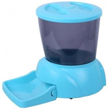 Feedex / Фидекс Автокормушка на 2 кг корма для кошек и мелких пород собак голубая