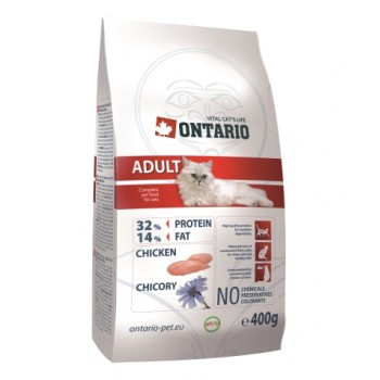 Ontario / Онтарио для взрослых кошек с курицей 0,4 кг