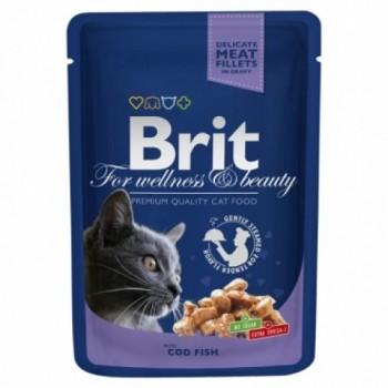 Brit / Брит Премиум пауч д/кошек Cod Fish pouch Треска, 100г
