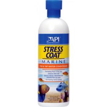 API / АПИ Стресс Коат - Кондиционер для декоративных рыб и воды (для морских аквариумов) Stress Coat Marine, 237ml
