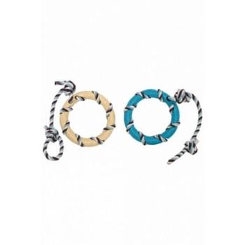 """Papillon / Папиллон Игрушка для собак """"Кольцо на веревке"""", латекс, 14*46см"""