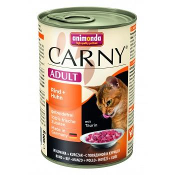 ANIMONDA CARNY Adult Консервы с говядиной и курицей д/кошек 400г