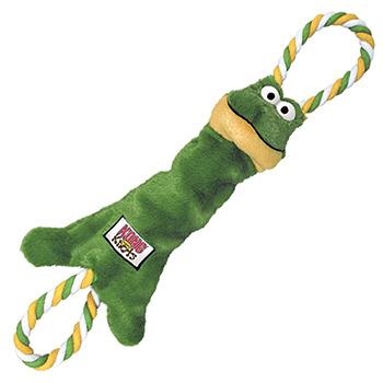 """Kong / Конг игрушка-перетяжка для мелких и средних собак """"Лягушка"""" канат/мех"""
