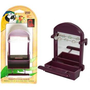 Penn-Plax / Пен-Плакс Кормушка для птиц внутренняя с Зеркалом и бусинами ВА521