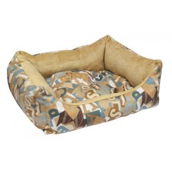 Зооник Лежанка-диван (микровелюр+вельбо) 450*520*170, Азбука