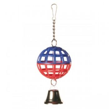 Trixie / Трикси Игрушка д/птиц Пластиковый шарик с колокольчиком ф5см 5250