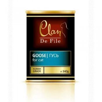 Clan / Клан De File консервы для кошек Гусь, 0,34 кг