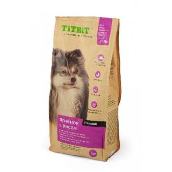 TitBit / ТитБит Корм сухой для собак мелких и средних пород ягненок с рисом 3 кг