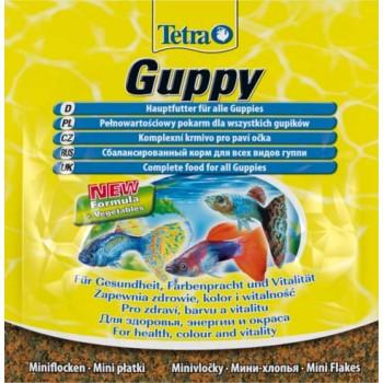 TetraGuppy / Тетра корм в хлопьях для гуппи 12 г (sachet)