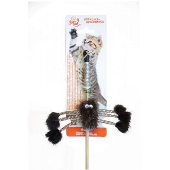 """Зооник Дразнилка для кошек """"Норковый паук на веревке""""50 см (07103)"""