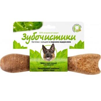 ЗУБОЧИСТИКИ Косточка жевательная для собак средних пород 10-25 кг Морские водоросли 1шт 95г 1х144 7330379