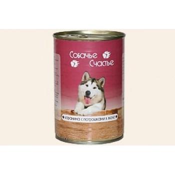 Собачье счастье кон.д/собак Баранина с потрошками в желе 410г