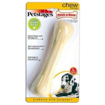 Petstages / Петстейджес игрушка для собак Chick-A-Bone косточка с ароматом курицы 18 см большая