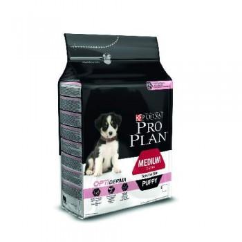 """Pro Plan / Про План """"Puppy Medium Sensitive Skin"""" с комплексом OPTIDERMA сухой 18 кг с чувствительной кожей Лосось"""