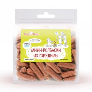 Dog Fest / Дог Фест Мини-колбаски из говядины 500 гр