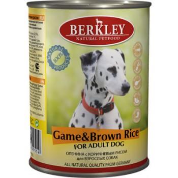 Berkley / Беркли кон. д/собак оленина с коричневым рисом 400гр