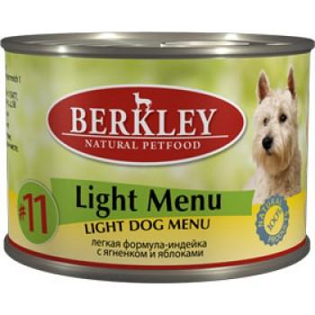 Berkley / Беркли кон. д/собак легкая формула индейка и ягненок,яблоки №11 200гр