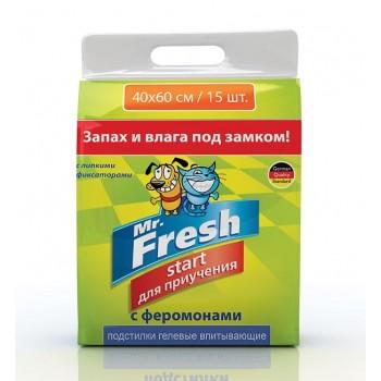 Mr.Fresh / М.Фреш Start 40х60 Пеленки д/приучения к месту 15шт
