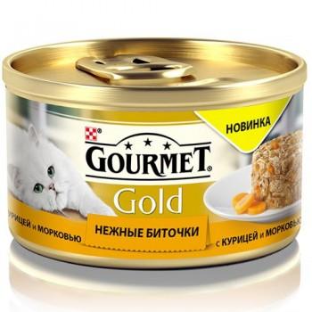 Gourmet Gold / Гоурмет Голд 85 гр Нежные биточки с курицей и морковью