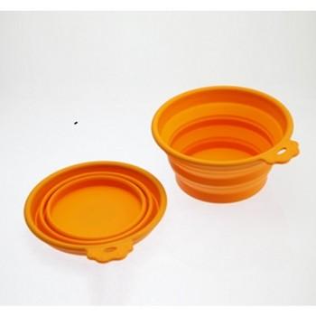 SuperDesign миска силиконовая складная малая 350 мл оранжевая