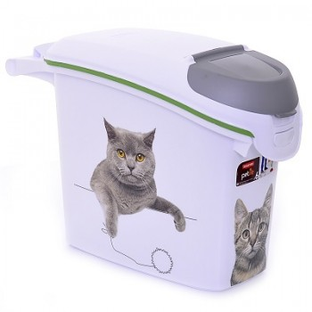 """Curver PetLife / Курвер ПетЛайф Контейнер для корма """"Сладкие котята""""на 6кг/15л, 23*50*36см"""