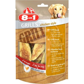 8in1 Grills Chicken гриллс снеки в виде филе курицы из говяжьей кожи и куриного мяса 80 г