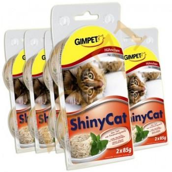 Gimpet / Гимпет Консервы ShinyCat макрелью и цыплёнком в блистере д/кошек, 2*85 г