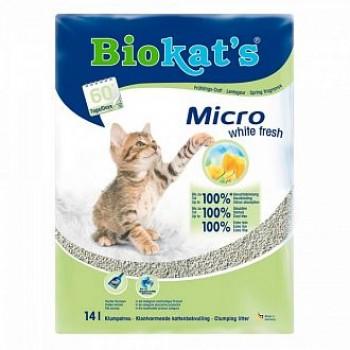 "Biokat's / БиоКэтс наполнитель BIOKAT'S ""Микро Уайт Фреш"", 14л (пластик)"