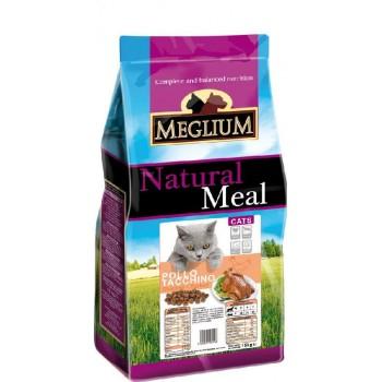 MEGLIUM / МЕГЛИУМ Adult Корм сух.15 кг курица индейка для кошек MGS0315