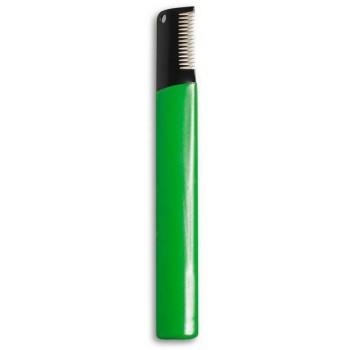 STANDART тримминговочный нож для жесткой шерсти зеленый с нескользящей ручкой