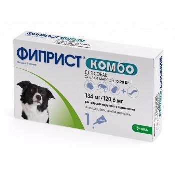 ФИПРИСТ KRKA КОМБО р-р для наружного применения для собак 10-20 кг 1х1,34мл