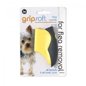 JW Расческа для собак, для вычесывания блох, маленькая Grip Soft Small Flea Comb (65036)
